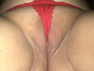 Lingerie inside her pussy