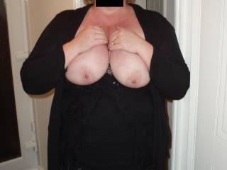 Cum all over her tits