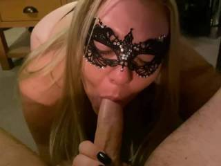 Her sucking my cock, something she absolutely loves. Her blowjob skills are amazing. Let us know what you think.