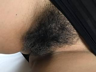 Really bushy, fancy cumming on it