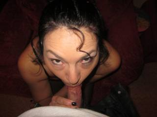 Love to have those eyes looking up over my cock.....whens my turn????