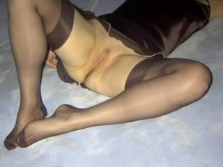 Damn what a hot pic. LOVE the stockings. PLEASE post more. You're hot and sexy!!!!