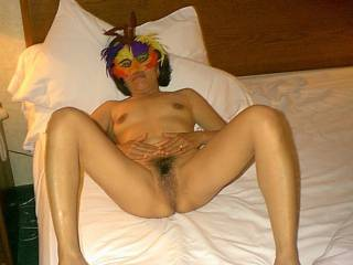 She was ready for more. Two more guys banged her pussy after I did. Then her husband banged her one more time, by then we were all ready to fuck her again. 4 guys fucked her twice each, 8 loads of cum in her wet pussy