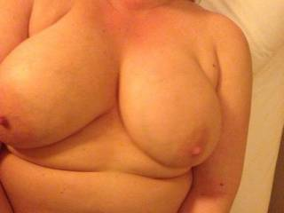 I want to see those tits bounce as I pound away at your warm soft place. ;)