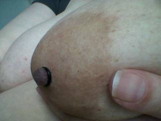 Got a new toy.....nipple pump with rubber rings. Nice!