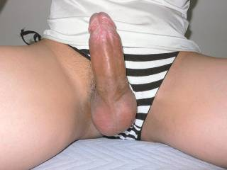 I have to say thats a great look for you and love the thick cock MMM make me want to jump on and have a ride !