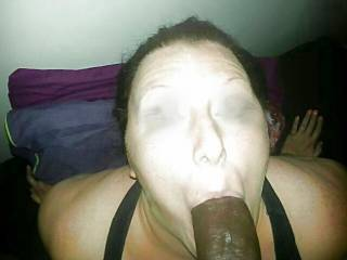 Taming   a mature black cock  slut  she loved eating my cock