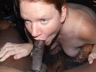 She looks so sexxxy with your cock in her mouth.
