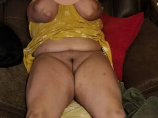 wife loves to go bottomless and lift her dress to show you shes not wearing panties