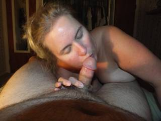 Hubby was away on business and had to call our friend over for some fun. He wanted to send some pics over to my hubby to show him how much fun we were having. I love having an open relationship with my husband.