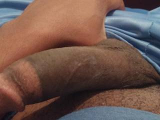 Felt some morning wood coming on ... Itz getting harder!