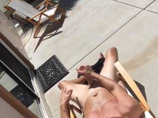 He made a naughty outdoor video stroking his cock until he comes.