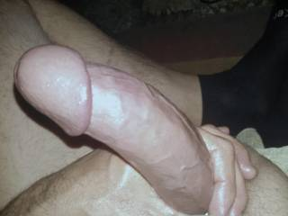 Now my Dick felt so Big and thick here, to bad I couldn't have had something soaked to slide into deep. I had to be solo but it felt amazing. I would have loved a hand or two to help me. Mmmm