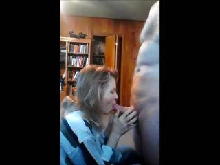 sucking a guys cock to get his cum, Mrs Gsplash swallows it all. 