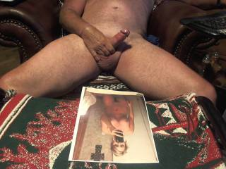 Older cock ready to tribute a young wife......