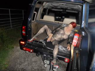 Hi all popped out for another drive pulled over so I jumped in the back and put some of my toys to good use dirty comments welcome mature couple