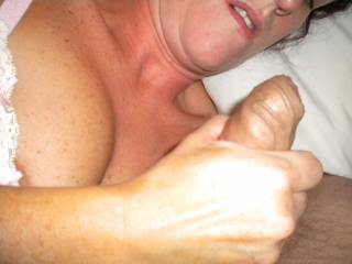 And make sure you empty your balls by giving her big squirts of semeny cum for her.