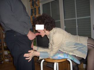 Mmmmm, that's what I like doing the most.  I like to suck cock and swallow cum.  I'd give him a hot Birthday blow job....and I do swallow.  MILF K