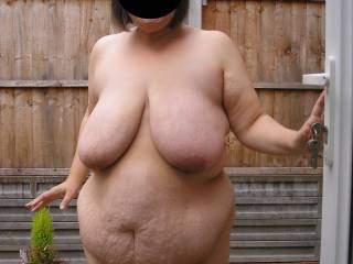 Wife naked outdoors