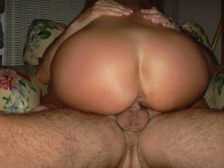my wife taking my bud\'s big thick cock balls deep.