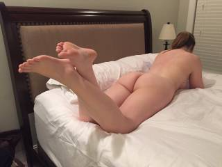 Her legs and feet are very sexy