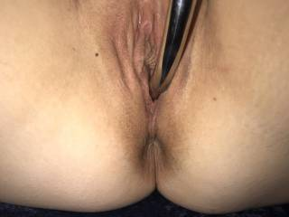 I had to take out my new njoy wand, I have to say from first hand experience it made me cum over and over again!