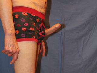 \'He\' needed a hand to break free from the undies but is now ready, willing and very able.