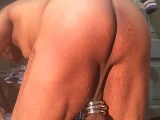 Ass shot of weights