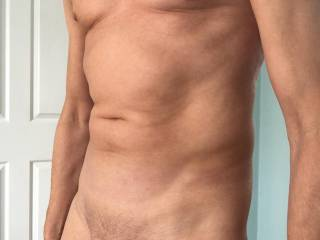 posing after shaving cock and balls for the first time this year. the rest is naturally not v hairy