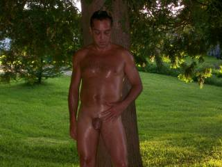 I was excited and nervous to be nude outhere in a public parc. I think his is good pic aren,t you?