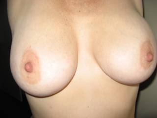 Perfect tits! We'd love to suck & fuck them!