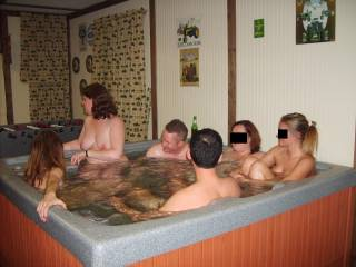 How many sexy naked people can you get in one hot tub?!