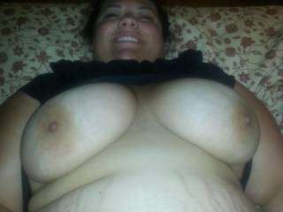 Her huge fat tits and big belly are amazing !