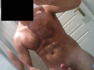 You've got a really hot/muscled and hairy bod there man.... looks GREAT !
