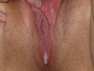 after a good fucking my pussy is nice and full - does this look inviting