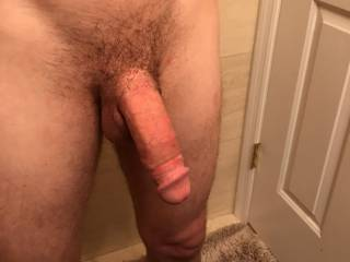 Would you like having your mount on this semi hard cock?