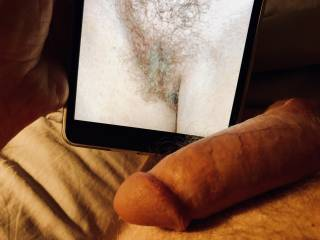 My penis is swollen and hard, this if a delicious look and I need to cum.