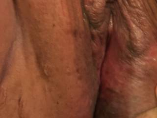 Wife's big wet pussy ready to fuck , any takers !