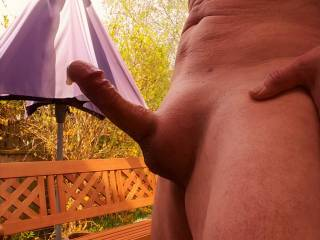 This is what happens when I get aroused outdoors.