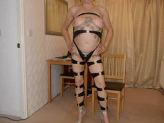 hi all I cant think why but hubby loves me wearing this about the house dirty comments welcome mature couple