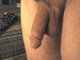 His dick just hanging out, enjoying a naked day.