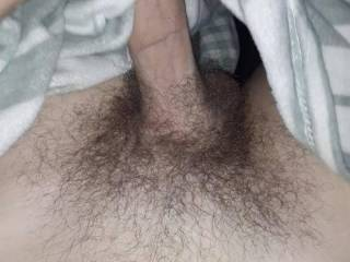 My cock got hard and it needed a stretch. Love the feeling if that foreskin.