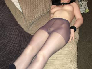 tied up wearing tights