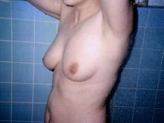 Is that shower big enough for two. If it is I'd like to soap her up and get her all clean before I eat her pussy and get her ready for a nice long fuck session. I love sex in the shower!