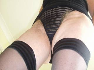 Oh my !!!!!!!!!!!!! Can't begin to tell you how sexy you are in stockings/pantyhose and what a beautiful hairy pussy you have!!!