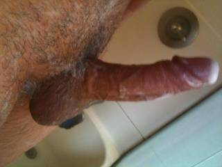 nice thick solid cock love the veins would look hot shaved smooth