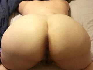 I'd love to get behind that round ass of hers and fuck her silly for a few hours and then just swap her back and forth with her hubby!