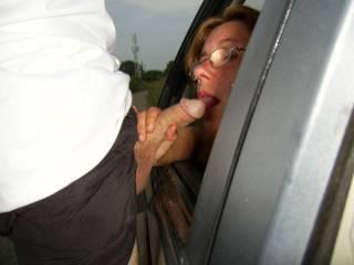 "I wish I was sitting in the back seat, winding the window down, Saying ""Don't Hog it Mrs Acouple, it's my turn"".  Mrs E xoxoxo"