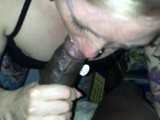 Gettinh a bj from this hot single milf  , she always wanted to try a BBC