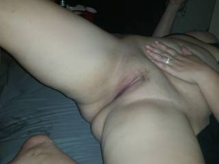 The wife's pussy
